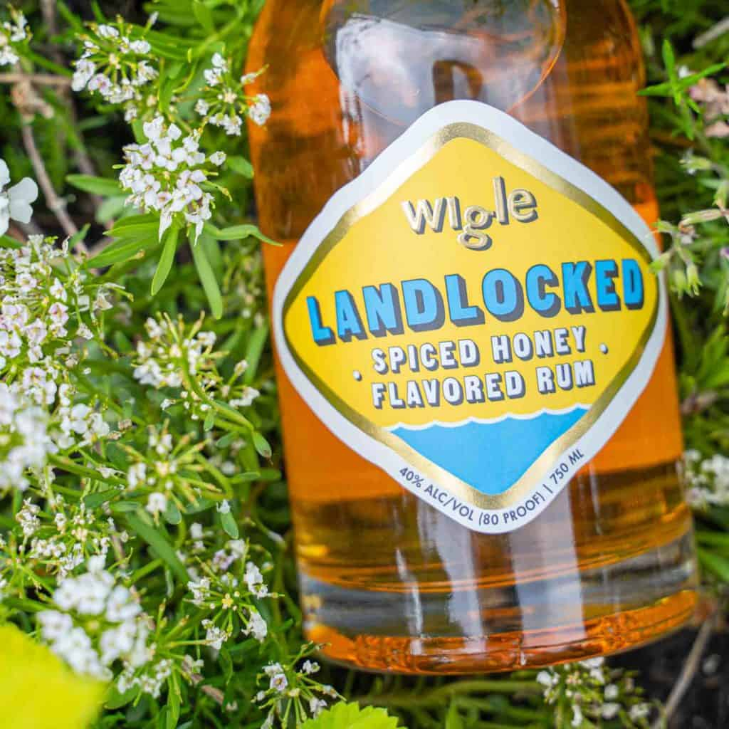 Landlocked Spiced Honey Rum with Flowers